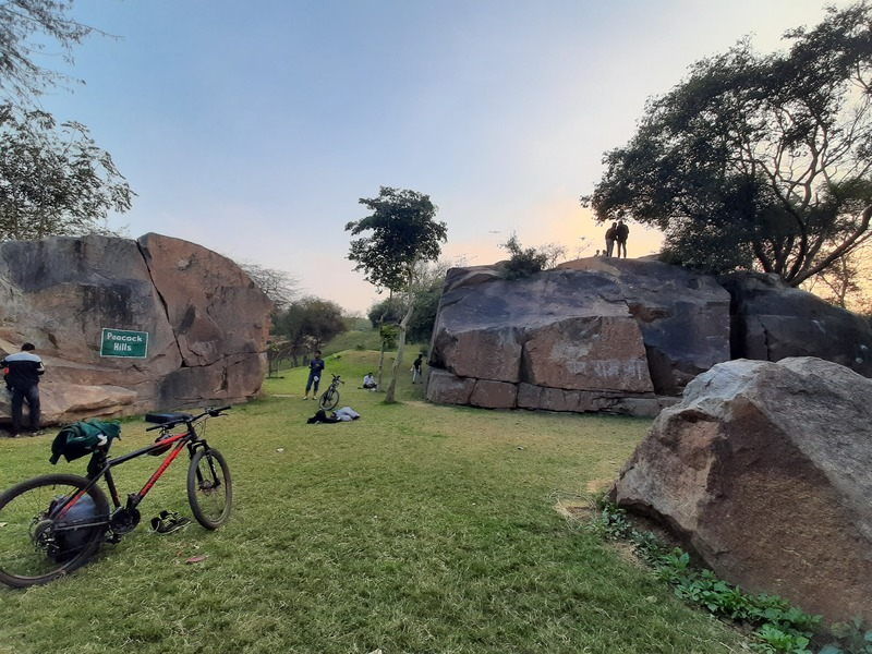 Outdoor Bouldering in New Delhi at Sanjay Van